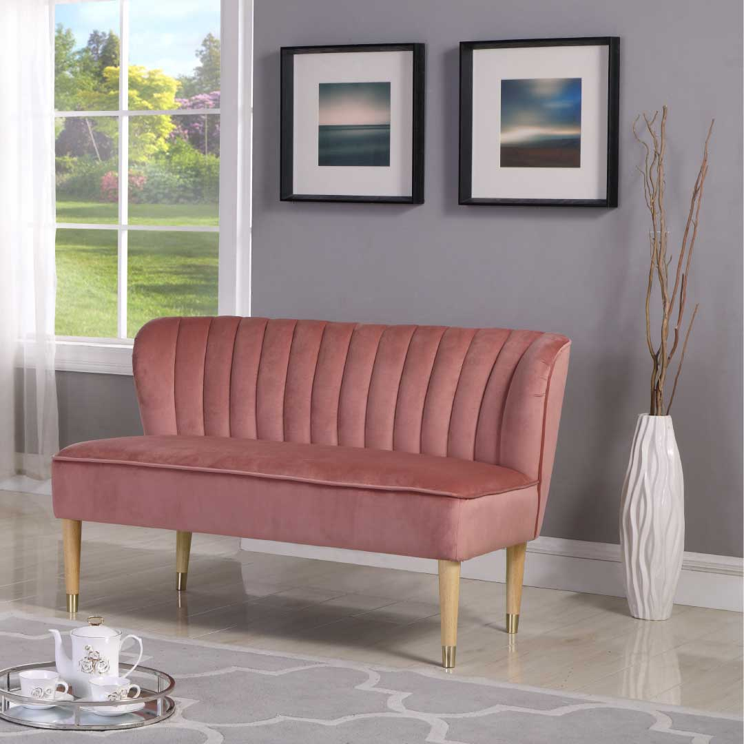 The Bexley Pink Love Seat