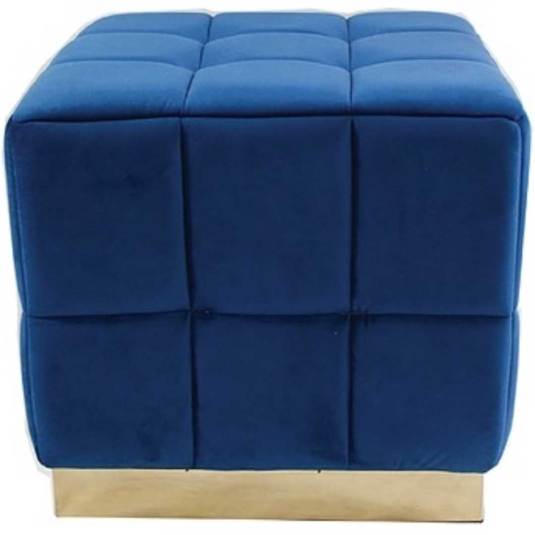 Royal Blue Footstool